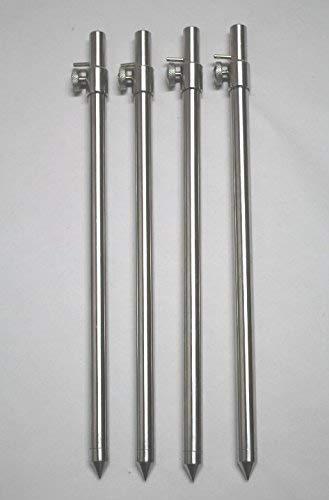 30-50 cm-Picchetto per Picchetti da pesca 4 x BZS Picchetto in acciaio inox