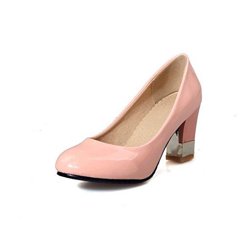 Balamasa Dames Stevige Hakken Laag Uitgesneden Bovenmateriaal Teen Urethaan Pumps-schoenen Roze