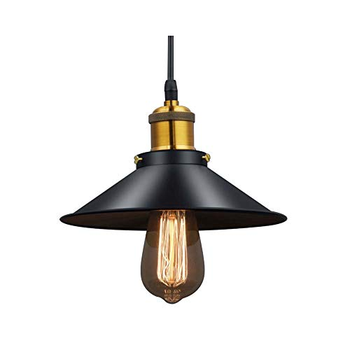 Starry Lighting SL-63471,Industrial Pendant Light, Vintage Black and Brass Metal Pendant Lighting Kitchen Island,Dining Table Pendant Lamp 9.84