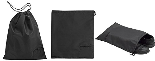 31 dwq9OU%2BL - Travel Shoe Bags - Set of 3 Nylon Shoe Storage Bags - Durable and Reusable Travel Organizer Drawstring Bag-Protects Footwear, Sneakers, Sandals, Against Scratches, Scraps, Scuffs, and Dust