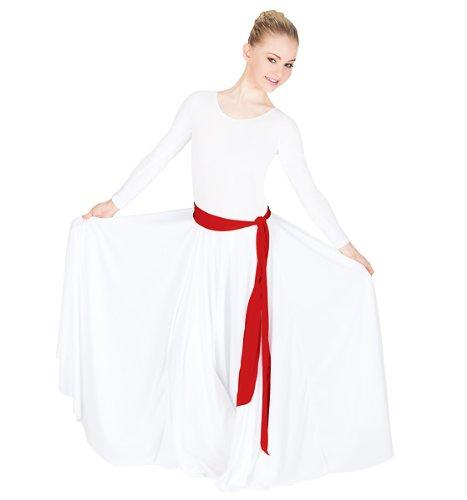 - Matte-Finish Waist Belt,13733WHT,White,One-Size