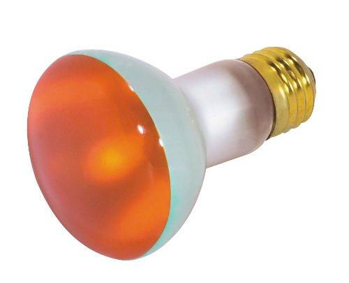 Satco S3203 50 Watt R20 Incandescent 130 Volt Medium Base Light Bulb, Amber