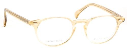 Giorgio Armani GA 786 HAM Sand Transparent Plastic Round Eyeglasses - Round Armani Eyeglasses Giorgio
