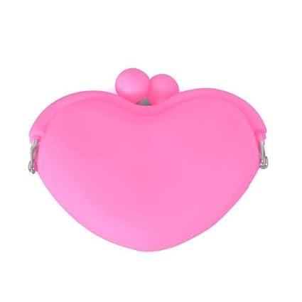 Monedero Cartera forma corazón de silicona aleación rosa ...