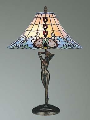 Sculptured Base Tiffany Table Lamp: Amazon.co.uk: Lighting
