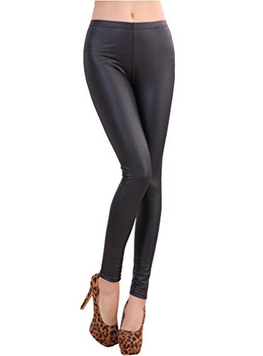 Black Leather Pants For Women - 5