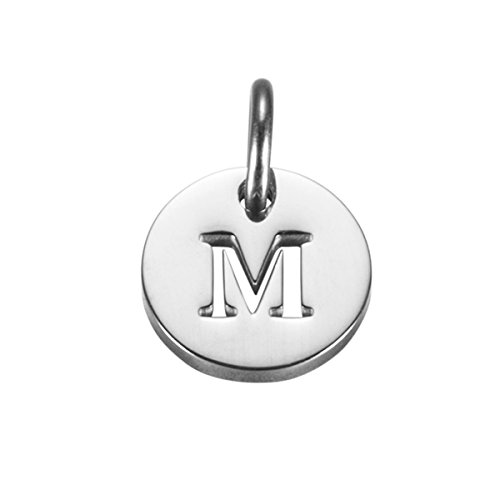 Initial Charm Necklace Bracelet Charm Small Pendant -