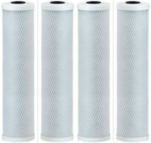 Premium Countertop Water Replacement Filter compatible for Ecosoft For Use In the Countertop Ecosoft Water Filters, Pack of 4 by CFS