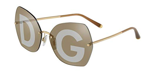(Dolce & Gabbana Women's Lucia DG Sunglasses, Gold/Brown Gradient, One)