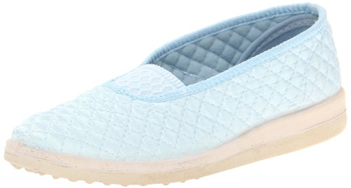 Satin Foamtreads Waltz Slipper Blue Women's qwq1ZFIX