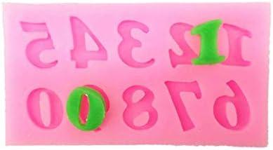Molde De Silicona Forma Letras Y Número 0-9 Para Fondant,26 Letras Inglesas Chocolate Silicona Moldes, Molde De Silicona Para Hornear Para Chocolate DIY, ...
