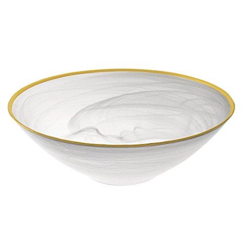 Badash - White Alabaster Glass 12