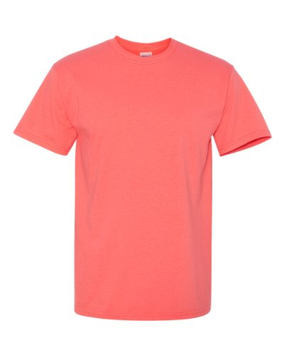 (Gildan Men's Heavy Cotton Tee, Coral Silk, 3X)