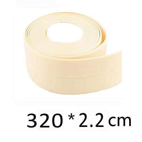 Kingkun New Decorative Caulk Strip Self-Adhesive Sealing Tape Anti-Mildew Waterproof Edge Protector for Bath Shower Floor Kitchen Stove Sink