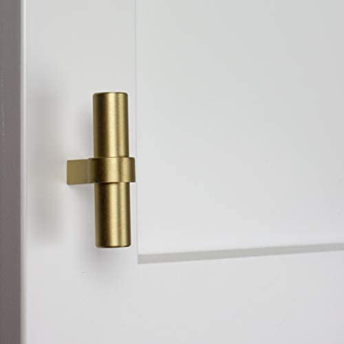 "GlideRite 2-1//4/"" Solid Steel Euro Bar Cabinet T-Knob Satin Gold 4002-T-SG-1"