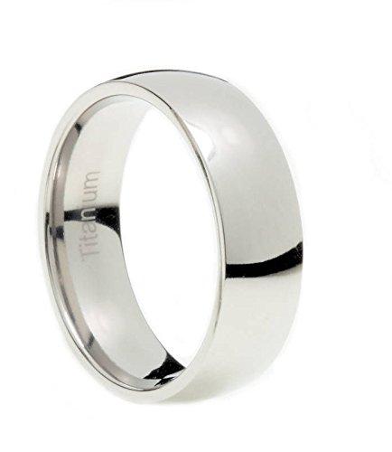 Titanium 3mm-9mm Wedding Band Polished Comfort Fit Ring