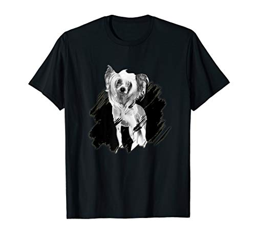 CHINESE CRESTED Heartbeat Scrach Dog Gifts T-Shirt