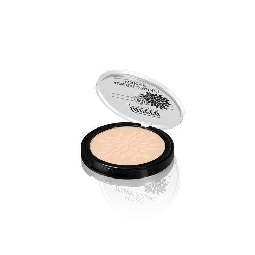 lavera Kompaktpuder Mineral Compact Powder ∙ Farbe Ivory Hautfarbe ∙ Glanz verschwindet & frischt auf ∙ Natural & innovative Make up ✔ vegan ✔ Bio Pflanzenwirkstoffe ✔ Naturkosmetik ✔ Teint Kosmetik 1er Pack (1 x 7 g)