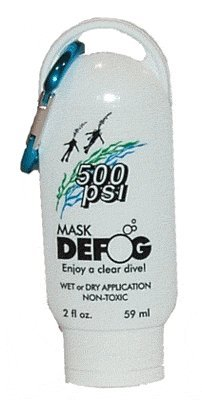 500 PSI Mask Defogger with Carabiner Great for Scuba Divers