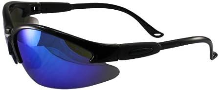 Global Vision Safety Shop Glasses with G-Tech Lens (White Frame/Blue Lens) COUGARWHGTBL