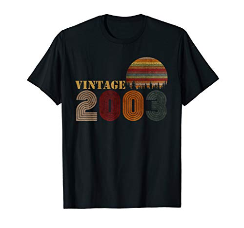Vintage Retro 2003 T-Shirt 16 Years Old 16th Birthday Gift (Present Ideas For 16 Yr Old Girl)