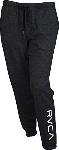 (RVCA Men's VA Guard Fleece Sweatpant, Black,)
