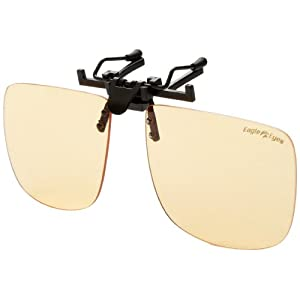 Eagle Eyes StimuLight ClipOn Sunglasses -Universal Larger Square Lense Low-Light Vision Boosters