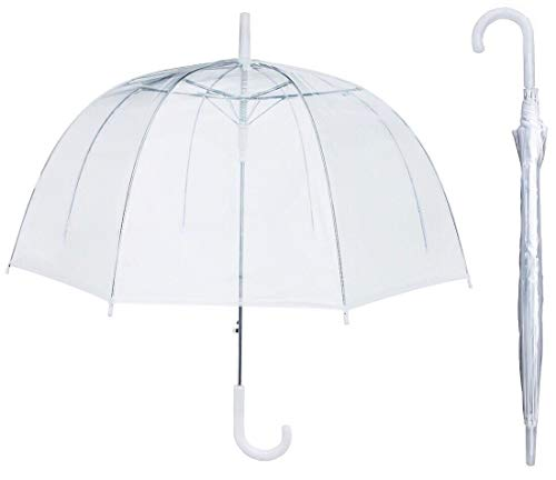 House Of Reign Clear Umbrella BIG ARCH 46 inch for Women | Weddings with EXTRA STRONG Reinforced Fiberglass Ribs Fit for Two