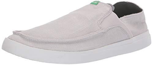 Sanuk Men's Pick Pocket Slip-On Linen Loafer Flat Grey 10 M US