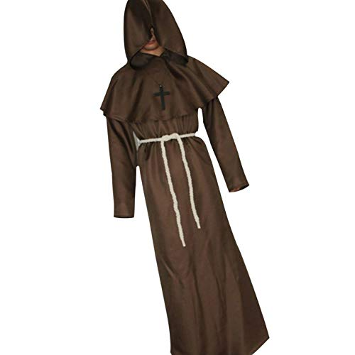 Beaums Unisex cosplay traje medieval monjes Robe Asistente ...