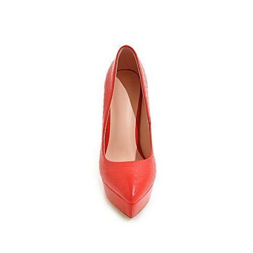 Plateforme 36 Red Femme SDC05913 5 AdeeSu Rouge 5IwvzXAqxq