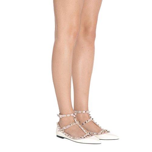 Mujer Jushee de Poliuretano Flat Marfil 8t8qxSROw