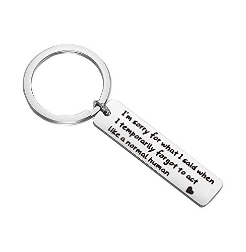SEIRAA Apology Gift Sorry Jewelry I'm Sorry Keychain Sorry Her Funny Novelty Idea Apologizing