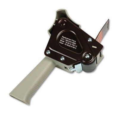 Grip Sealing Dispenser Box Tape (H180 Box Sealing Pistol Grip Tape Dispenser, 3'' Core, Plastic/Metal, Gray, Total 40 EA)