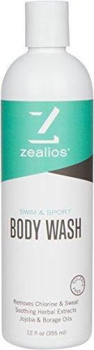 Zealios – Swim and Sport Body Wash – Aloe and Jojoba Oil (12 oz) (Body Swimmers Wash)