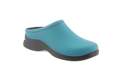 DUSTY Enamel Blue Klogs Women's Clog USA 4HngqREwz