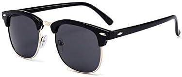ASLD Lunettes de soleil classique demi-carré lunettes de soleil hommes femmes rétrosemi-sans monture lunettes de soleil femme mâle miroir lunettes de soleil
