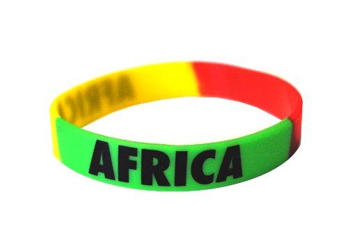 50 x Africa - Silicone Wristband