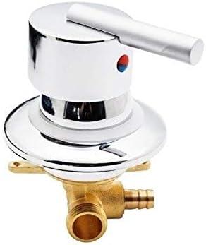 CHASH コールドとホット真鍮のシャワーの蛇口ミキサーダイバーバスルームのキャビンルームワンウェイ出力ギアねじ用/Bathoomシャワーシステムのための挿管をタップ (Color : One Way Intubation)