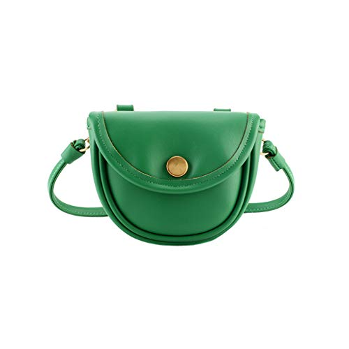 - Kingspinner Women Fashion Pure Color Leather Shoulder Bags Simple Beach Bag Crossbody Bags Retro Crescent Bag Beach Bag Purse