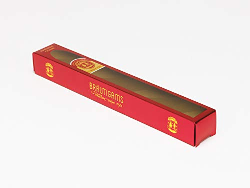 Exclusive Luxurious Premium Swedish Marzipan Cigar covered in 70% Dark Chocolate (100gram) PEAR COGNAC by Brautigams