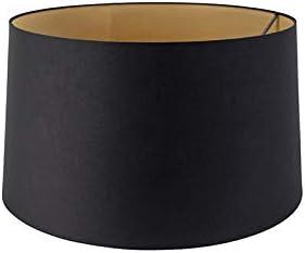 QAZQA Moderno Pantalla algodón negro/oro 45/50/28, Pantalla lámpara colgante,Pantalla lámpara de pie: Amazon.es: Iluminación