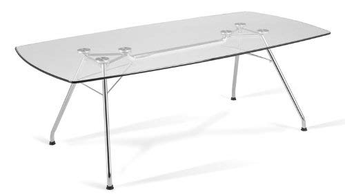 OFM GT3977 Glass Conference Table, 39'' x 77''