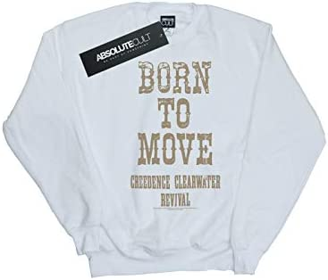 Absolute Cult Creedence Clearwater Revival Damen Born to Move Sweatshirt Weiß X-Large