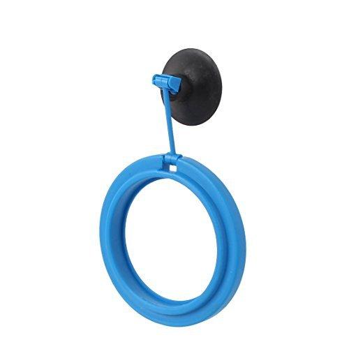 (eDealMax Forma plástico peces de acuario tanque de succión Círculo Fish Feeder Copa Alimentación anillo Interior 5.2cm Dia Azul)