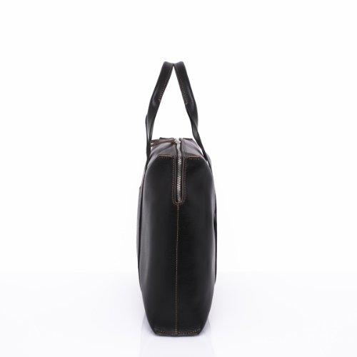 Slowbag SLOW BOSS Exklusive handgemachte Handtasche für Damen Naturleder schwarz&camel ppT9anf