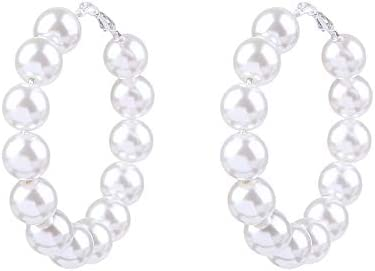 Earrings big circle pearl ring female Korean accessories Pendientes Círculo Grande Perla Anillo Femenino Accesorios Coreanos