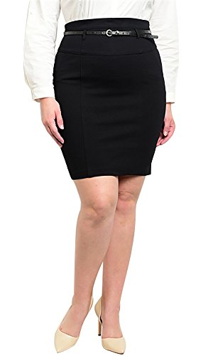Have Plus Size Women's High Waist with Fashion Belt Pencil Skirt - 2XL