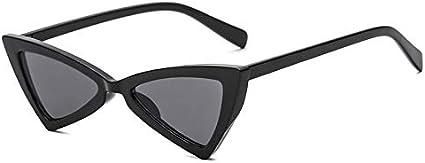 Dhmm123 Gafas de Sol de protección Gafas De Sol De Mariposa Gafas De Sol De Ojo De Gato con Personalidad Triangular Irregular Gafas de Moda (Color : F)