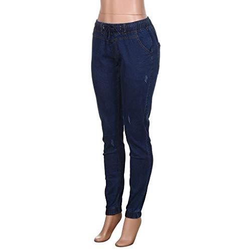 Ragazzi Moda Pantaloni Stretch Nero Vintage In Skinny Dunkelblau Classiche Uomo Lunghi Denim w4xgw1q